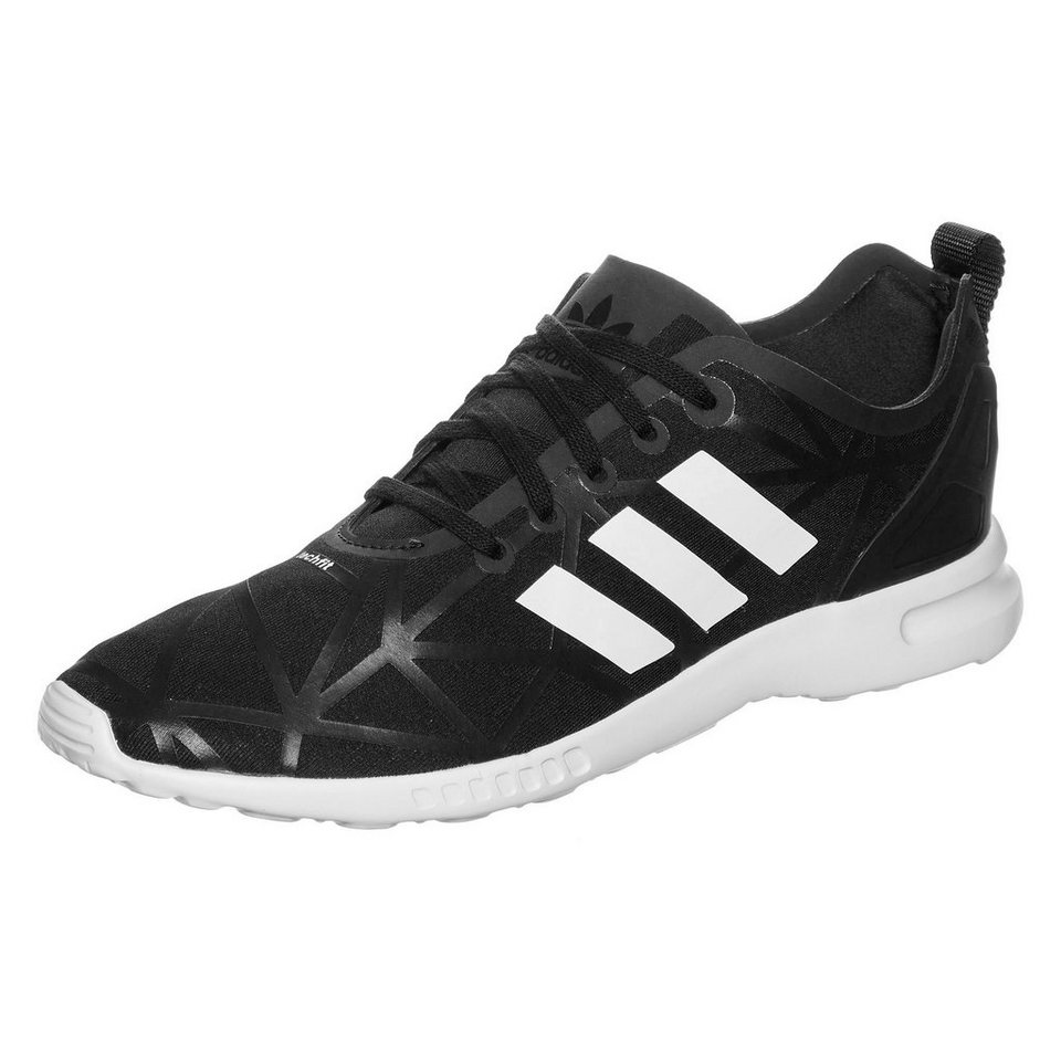 adidas Originals ZX Flux Smooth Sneaker Damen in schwarz / weiß