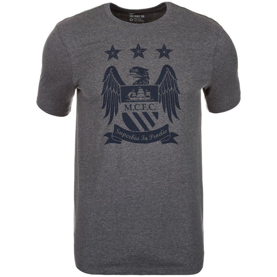 NIKE Manchester City Crest T-Shirt Herren in grau