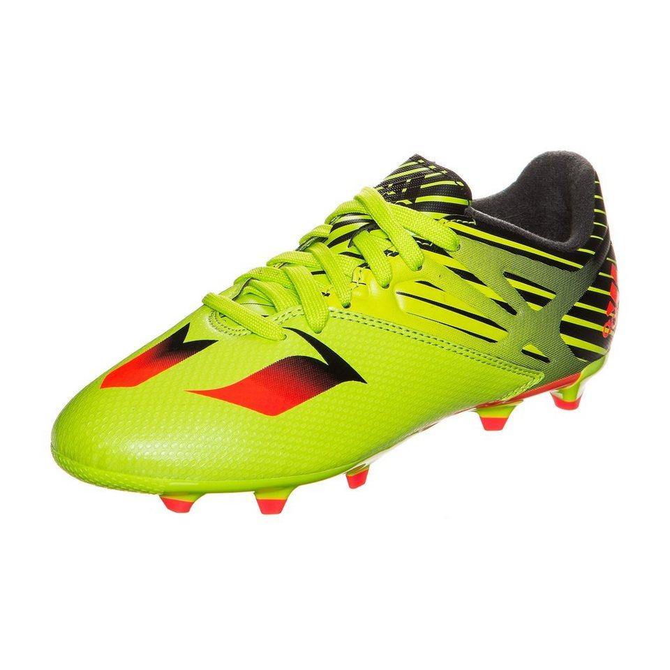 adidas Performance Messi 15.3 FG/AG Fußballschuh Kinder in lime / schwarz