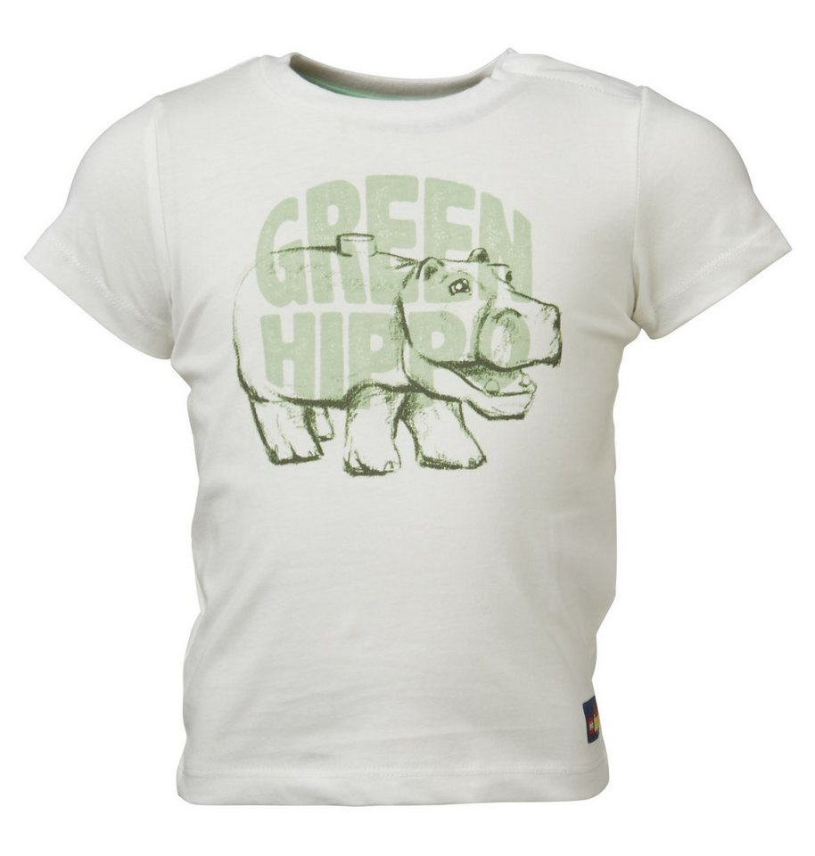 "LEGO Wear Duplo T-Shirt ""Green Hippo"" kurzarm Shirt Trey in weiß"