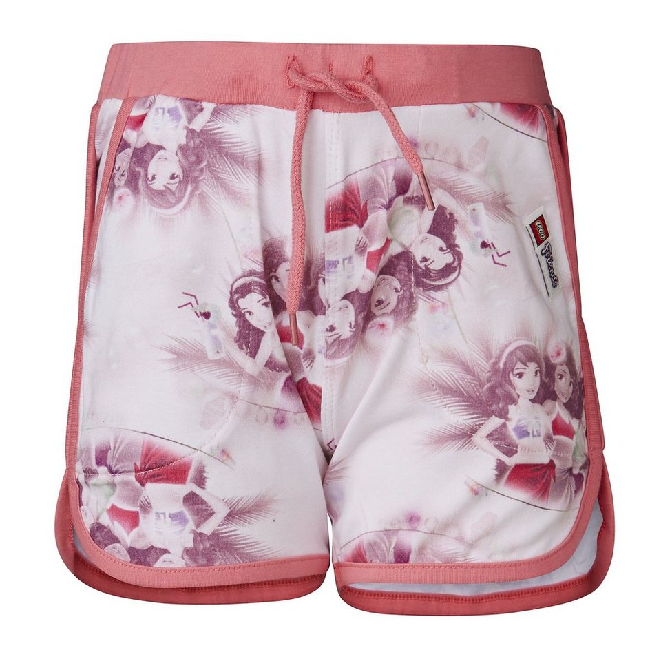 "LEGO Wear Friends Jersey Shorts Hose ""All Over"" Porta Strandhose in Rose"