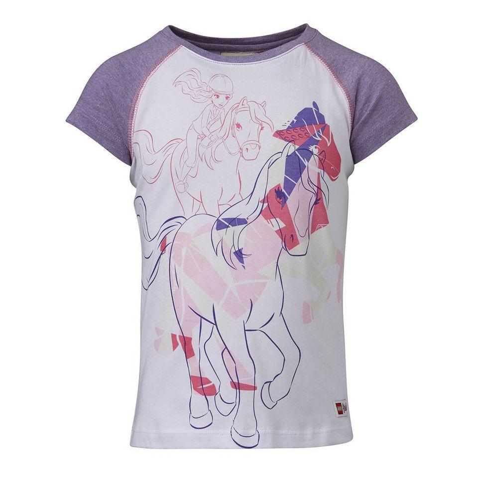 "LEGO Wear Friends T-Shirt Tamara ""Horses"" kurzarm Shirt in weiß"
