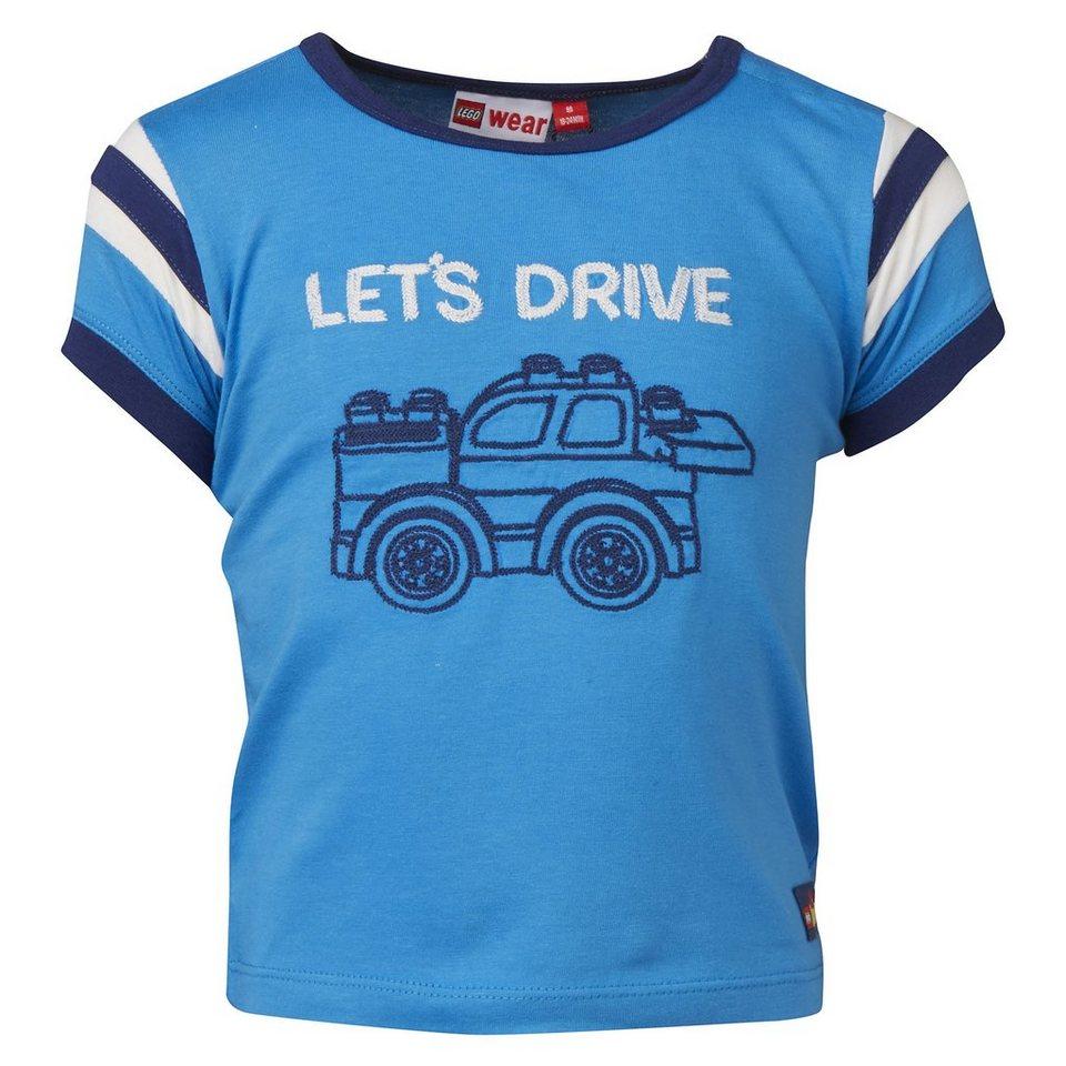 "LEGO Wear Duplo T-Shirt ""Lets Drive"" kurzarm Shirt Trey in blau"