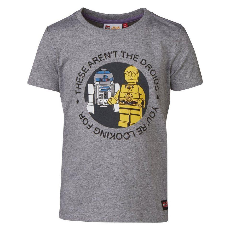 "LEGO Wear STAR WARS(TM) T-Shirt Tony ""Droids"" kurzarm Shirt R2-D2 C3PO in grau"