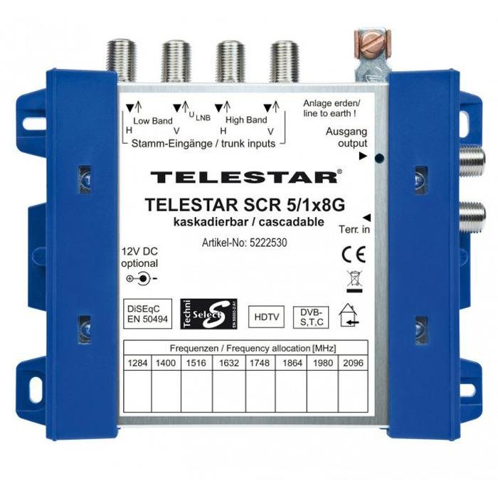 TELESTAR Digitale Einkabellösung (Grundeinheit) »SCR 5/1x8 G« in blau-weiß