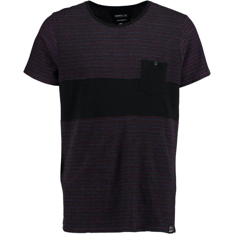 O'Neill T-Shirt kurzärmlig »Striped« in Schwarz
