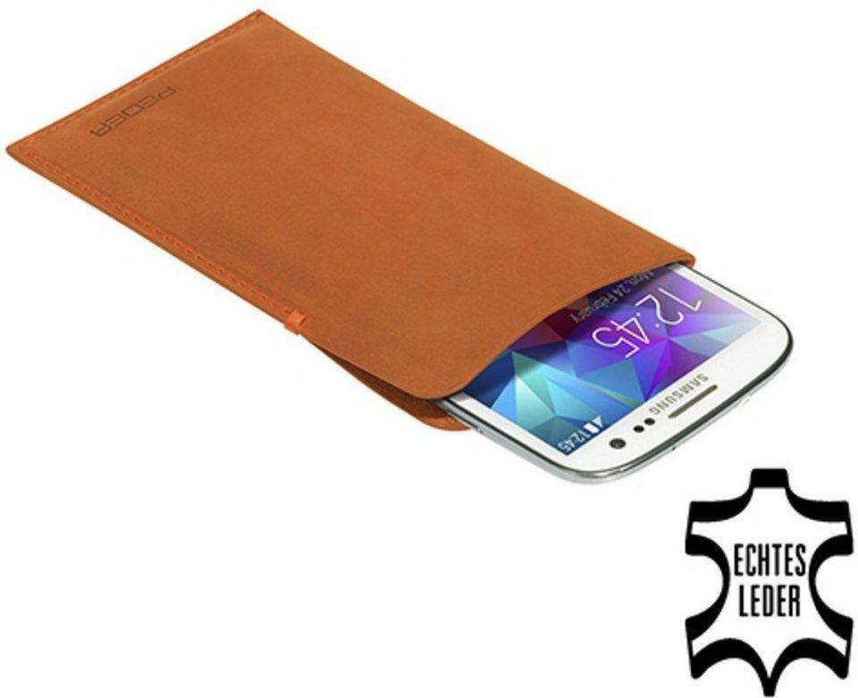 PEDEA Handytasche »Echtledertasche Tennessee für Samsung Galaxy S5« in Cognac