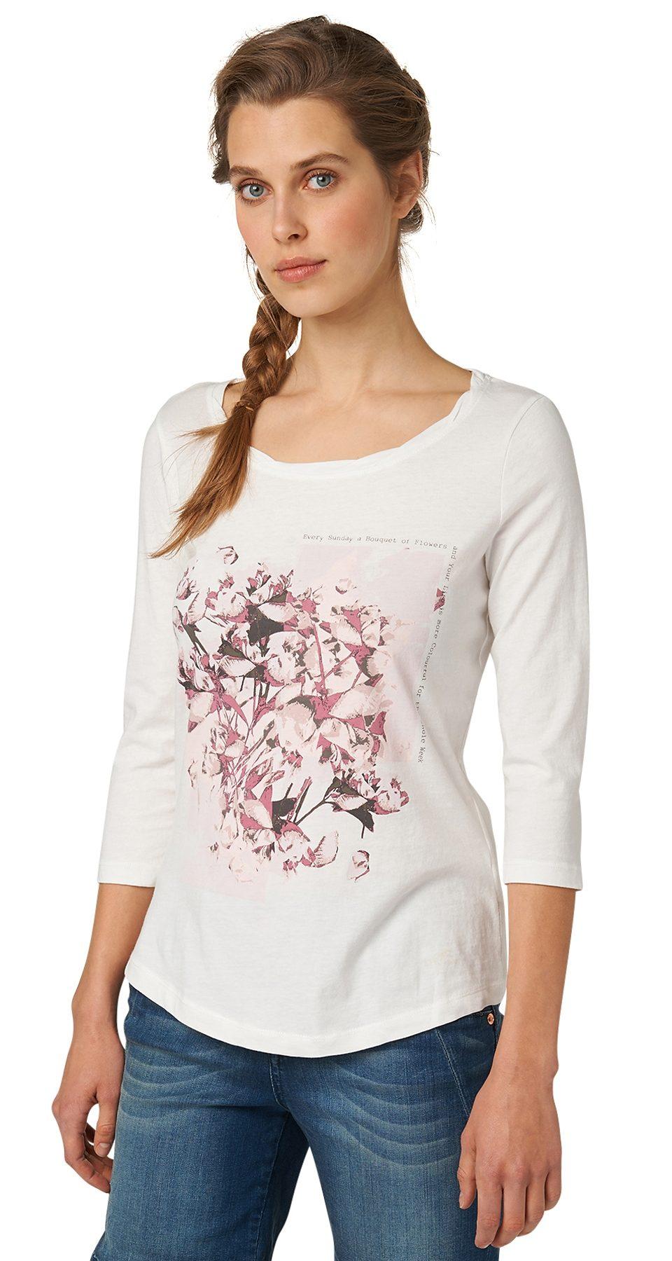 TOM TAILOR T-Shirt »Shirt mit Blüten-Print«
