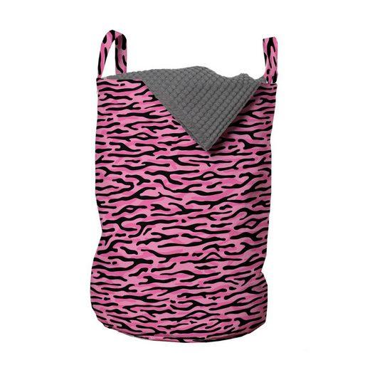 Abakuhaus Wäschesack »Wäschekorb mit Griffen Kordelzugverschluss für Waschsalons«, Safari Tierhaut Streifen-Muster