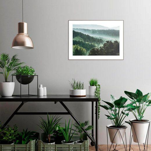 Wandbild »Slim Frame Wood 50x70 Mountain Scape«