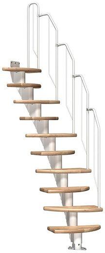 Dolle Mittelholmtreppe »Berlin«, für Geschosshöhen bis 247 cm, Stufen offen, variabler Treppenlauf