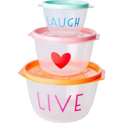 "rice Aufbewahrungsbox »3-tlg. Lebensmittelbehälter ""LIVE, LOVE and«"