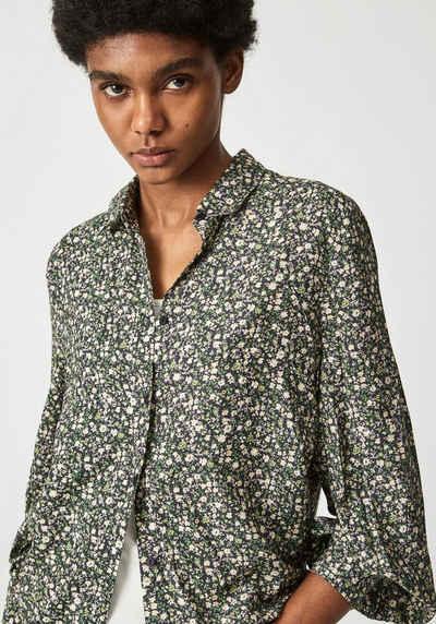 Pepe Jeans Hemdbluse »POPPY« mit tollem milles fleurs Muster, Kentkragen und durchgehender Knopfleiste