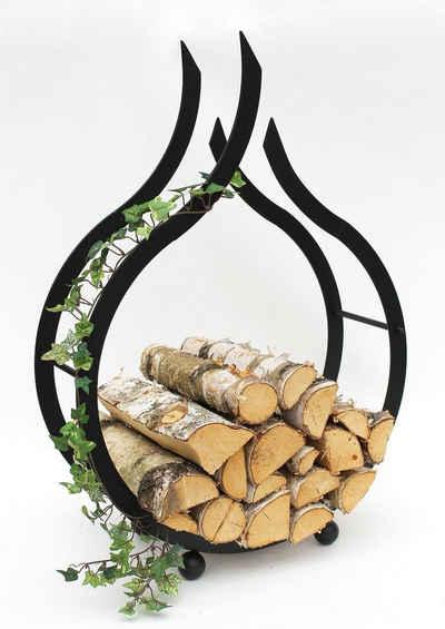 DanDiBo Kaminholzregal »Kaminholzregal Flamme Kaminholzständer 78 cm Holzkorb Kaminholzhalter Holzregal«