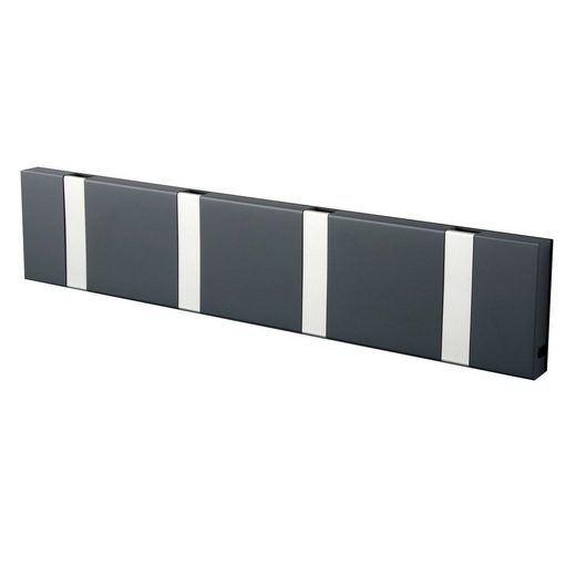 LoCa Garderobe »LoCa Garderobe Knax 4 anthrazit (Haken klappbar Alu)«