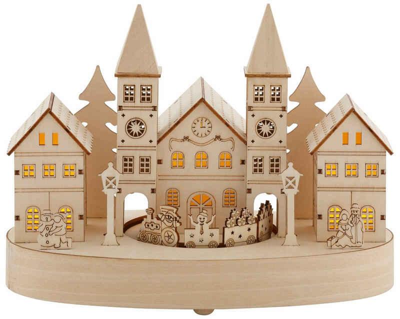 Home affaire Weihnachtsdorf, mit LED-Beleuchtung und Musikwerk