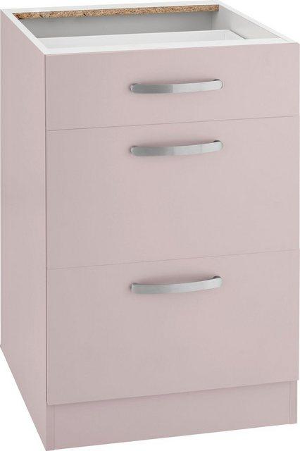 Küchenschränke - wiho Küchen Unterschrank »Kansas« 50 cm breit, mit 2 großen Auszügen ohne Arbeitsplatte  - Onlineshop OTTO