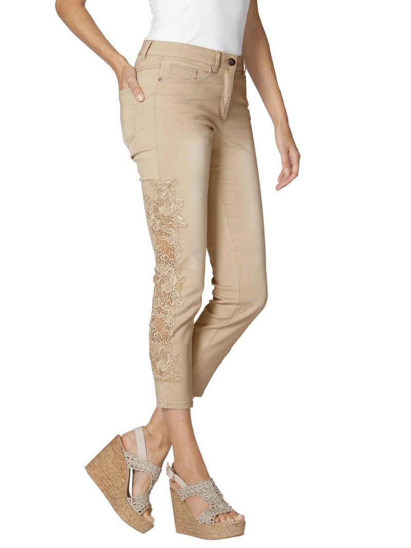 Amy Vermont 5-Pocket-Jeans mit Spitze