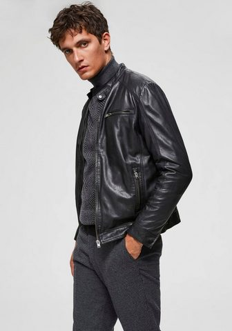 SELECTED HOMME Odinė striukė »CLASSIC LEATHER JACKET«...