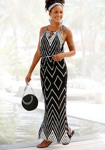 LASCANA Ilga suknelė im Schwarz-Weiß-Design