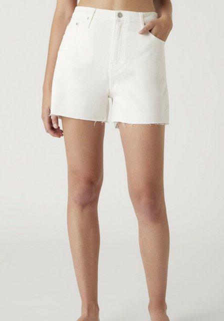 Hosen - Calvin Klein Jeans Shorts »Mom short« mit leicht ausgefranstem Saum CK Monogramm Stickerei ›  - Onlineshop OTTO
