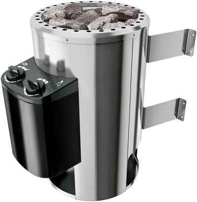 Karibu Plug & Play Saunaofen, 3,6 kW, integrierte Steuerung, mit Steinen