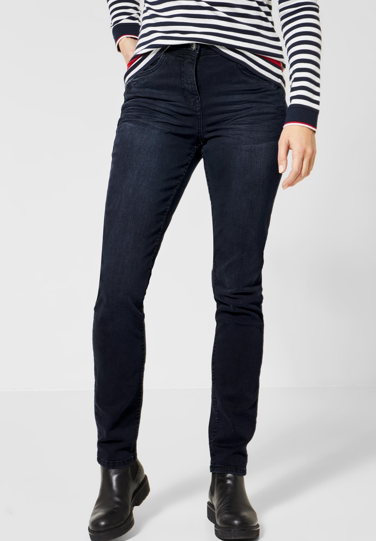 Cecil Slim fit Jeans 5 Pockets Style, Dunkelblaue Waschung online kaufen | OTTO