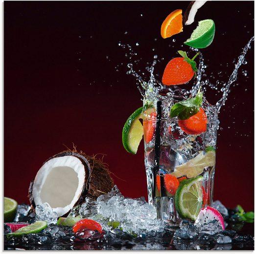 Artland Glasbild »Frischer Fruchtcocktail V«, Getränke (1 Stück)