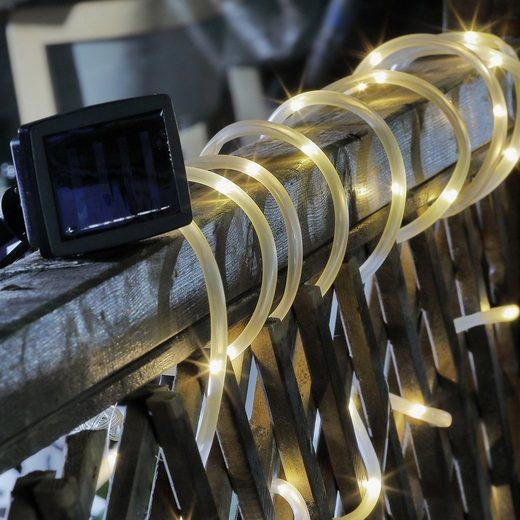 Haushalt International LED-Lichterschlauch »LED Solar Lichterschlauch - 50 warmweiße LED inkl. Erdspieß Außenbereich L: 5m«, 50-flammig
