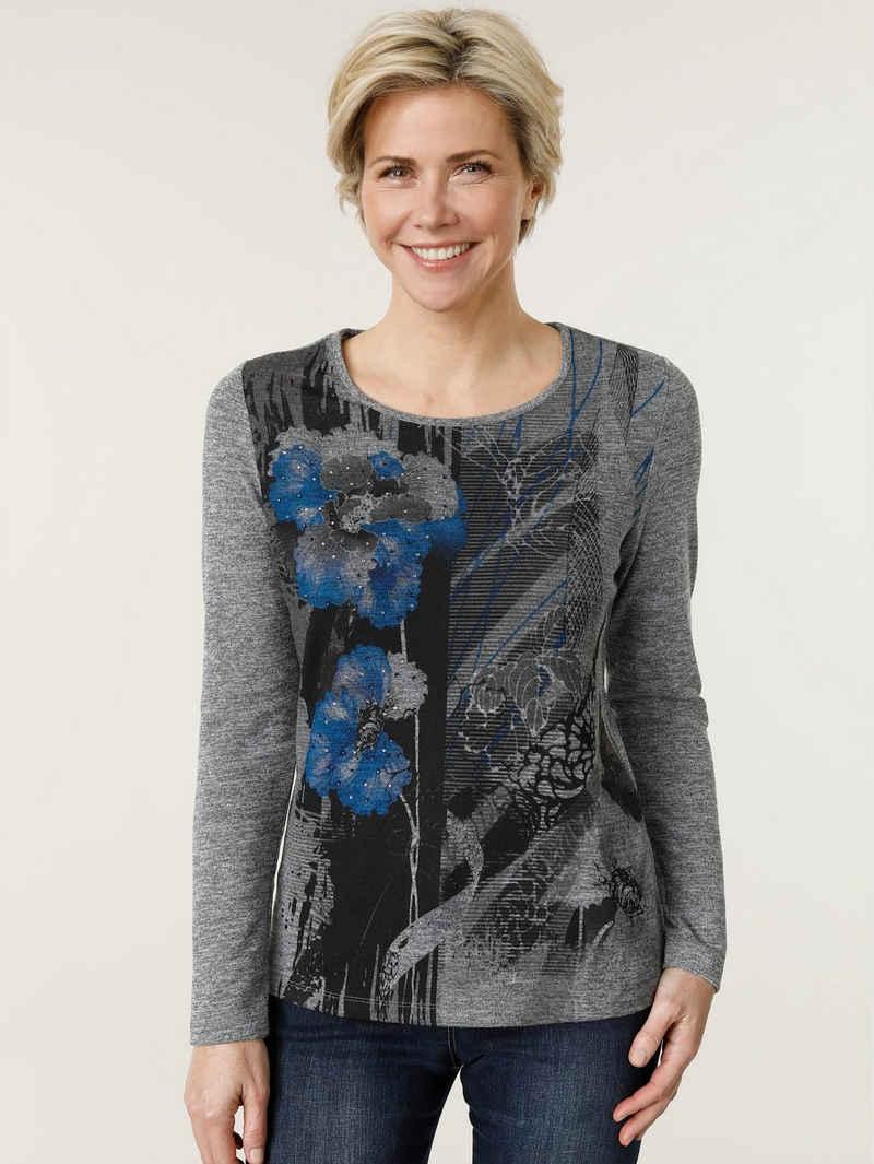 Mona Langarmshirt floral bedruckt