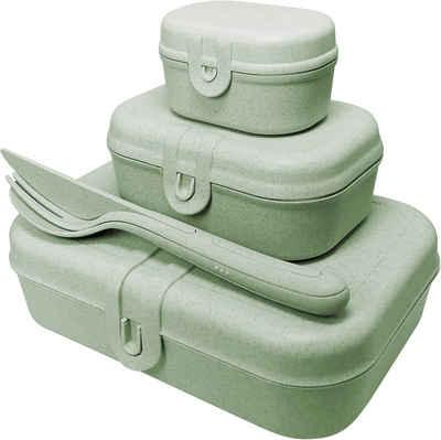 KOZIOL Lunchbox »PASCAL READY«, Kunststoff, (Set, 4-tlg), spülmaschinengeeignet, melaminfrei, inkl. Besteck