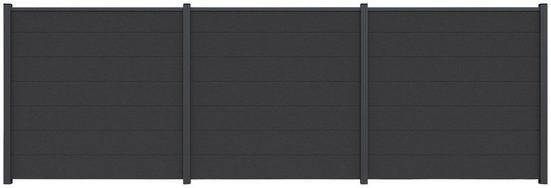 Kiehn-Holz Sichtschutzelement, (Set), LxH: 556x180 cm, Pfosten zum Einbetonieren