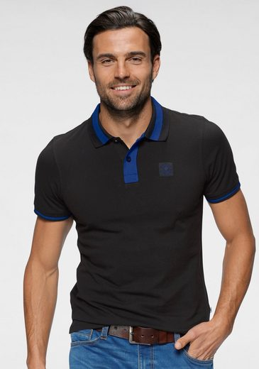 TOM TAILOR Polo Team Poloshirt mit kontrastfarbenen Details