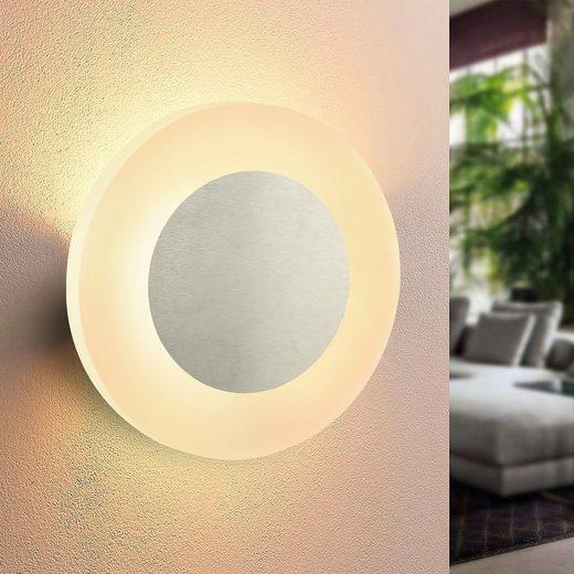 ZMH LED Wandleuchte »LED Wandlampe innen Wandleuchte Flur modern Wand Beleuchtung 3000K warmweiß aus Eisen & Acryl Ø 6.9W Flurlampe für Wohnzimmer Arbeitszimmer Schlafzimmer Treppenhaus«