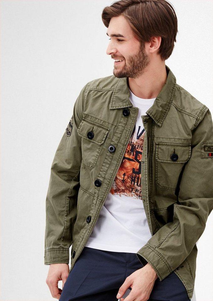 s.Oliver RED LABEL Leichte Jacke mit Wasch-Effekt in green