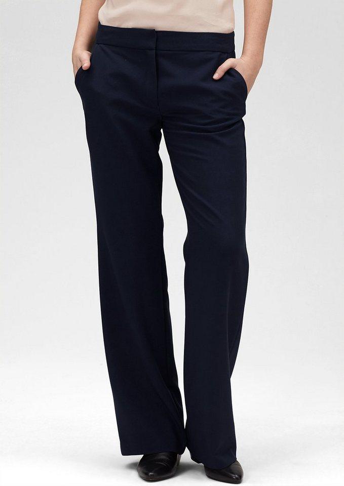 s.Oliver PREMIUM Stoffhose mit weitem Bein in star blue