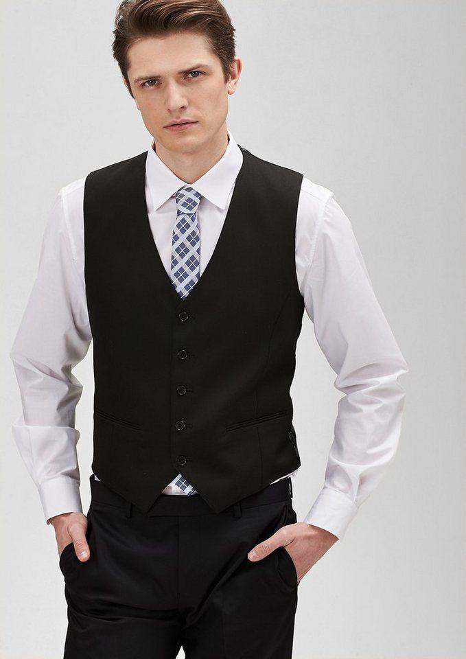 s.Oliver PREMIUM Anzugweste mit Satin-Rücken in black