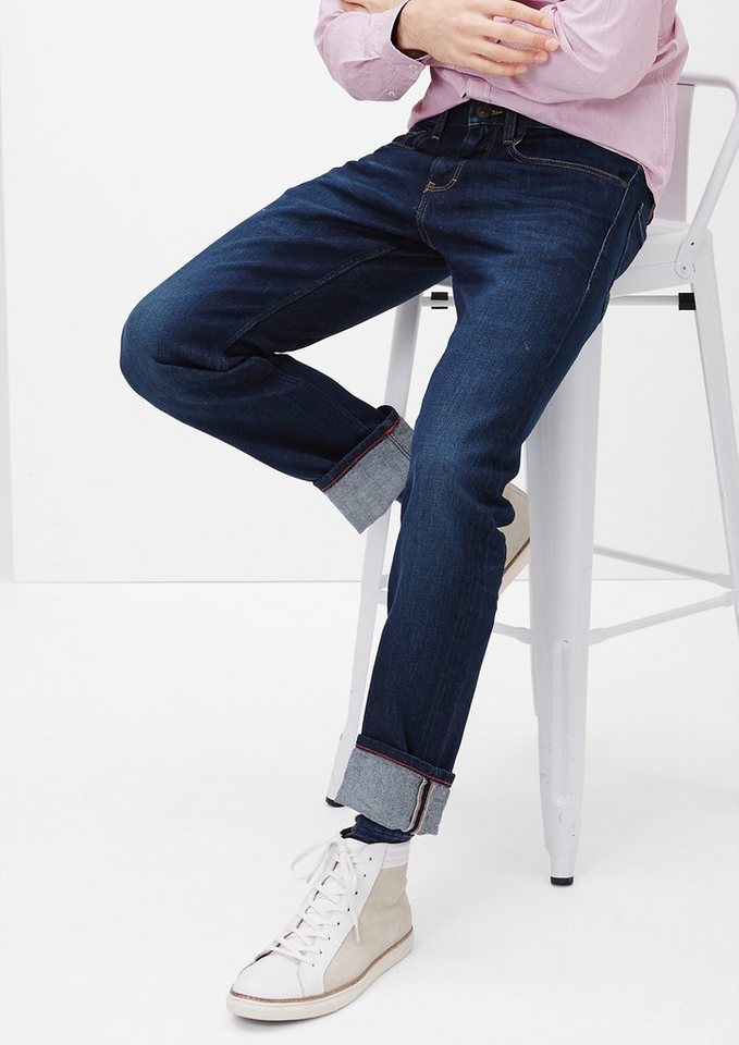 s.Oliver Close Slim: Stretchjeans in blue denim stretch