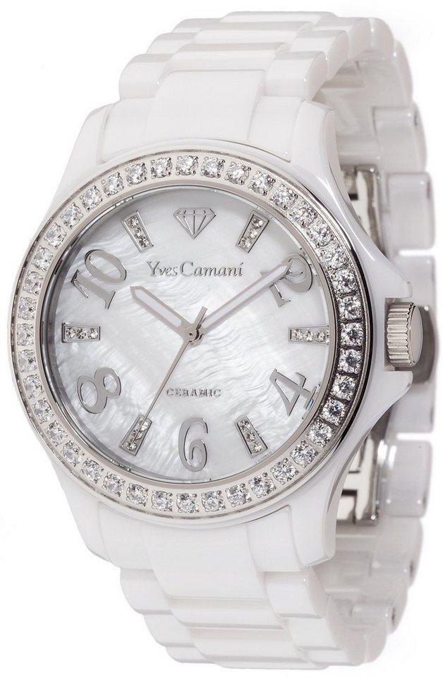 Yves Camani Armbanduhr, »CERESTE, YC1077-B« in weiß