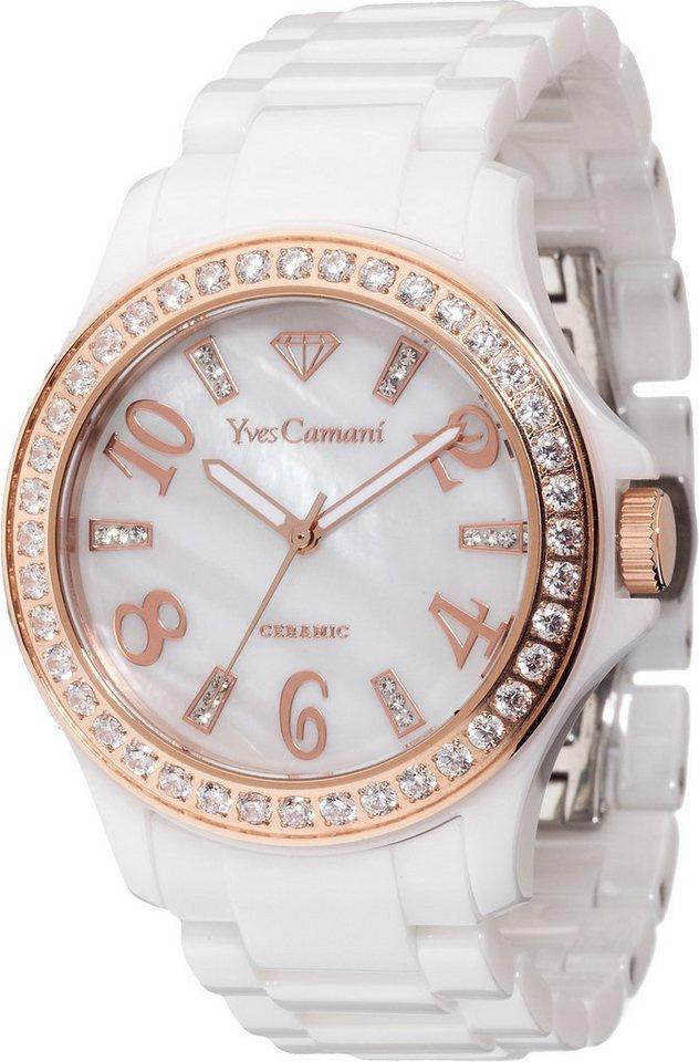 Yves Camani Armbanduhr, »CERESTE, YC1077-D« in weiß