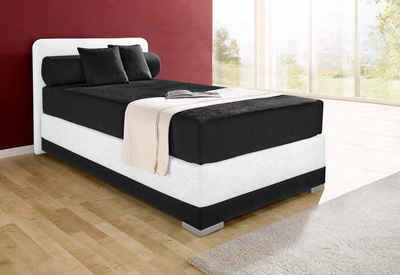 boxspring bett wei 160 200. Black Bedroom Furniture Sets. Home Design Ideas