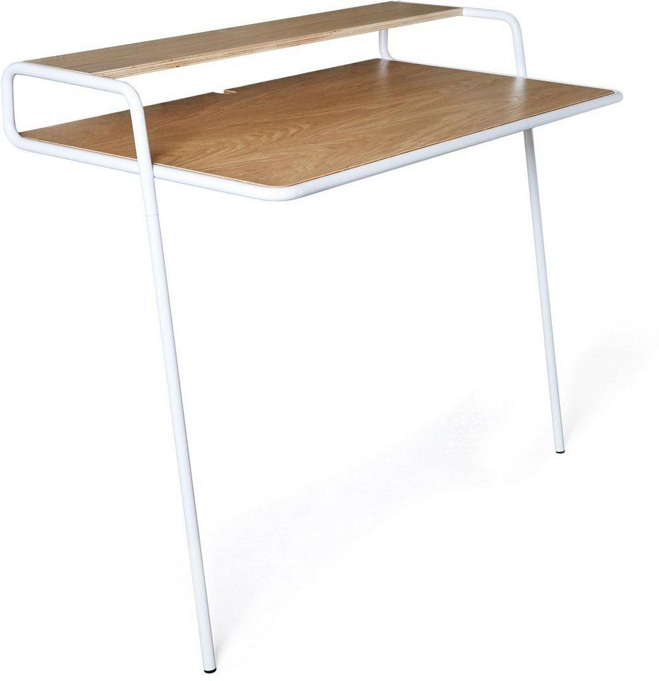 andas Wand-Schreibtisch »Linea«, Breite 107 cm in weiss/natur