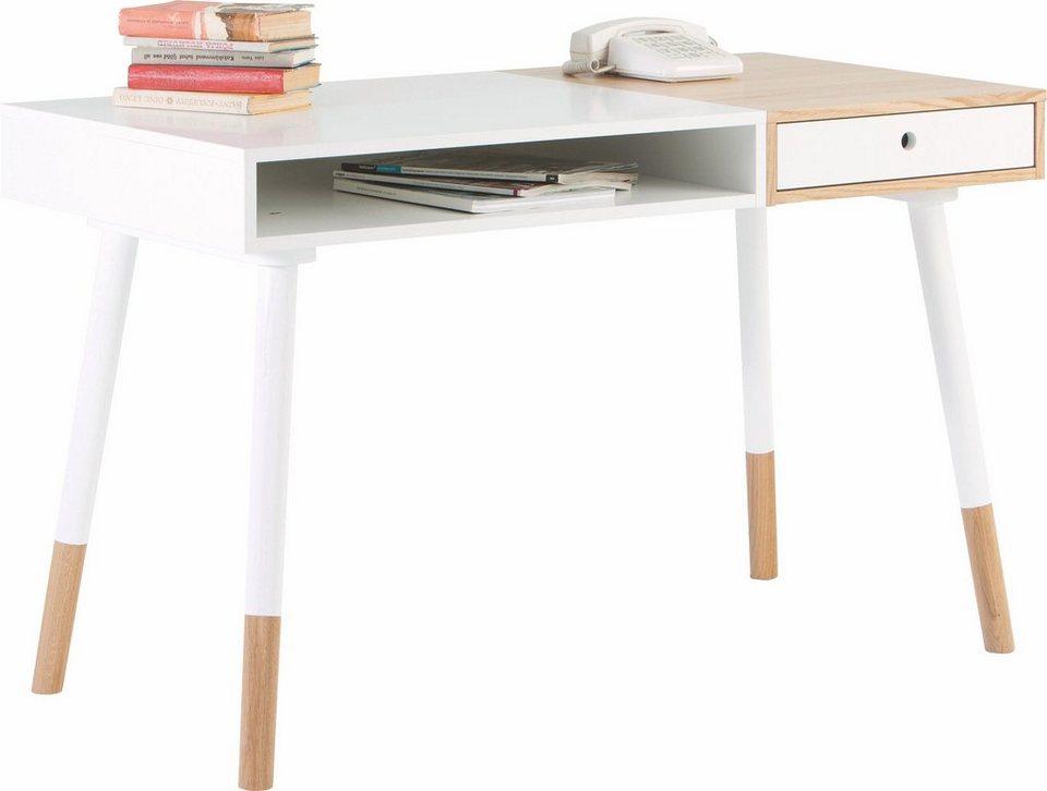 schreibtisch design weis, andas schreibtisch »silje«, eiche im nordischen design online kaufen, Design ideen