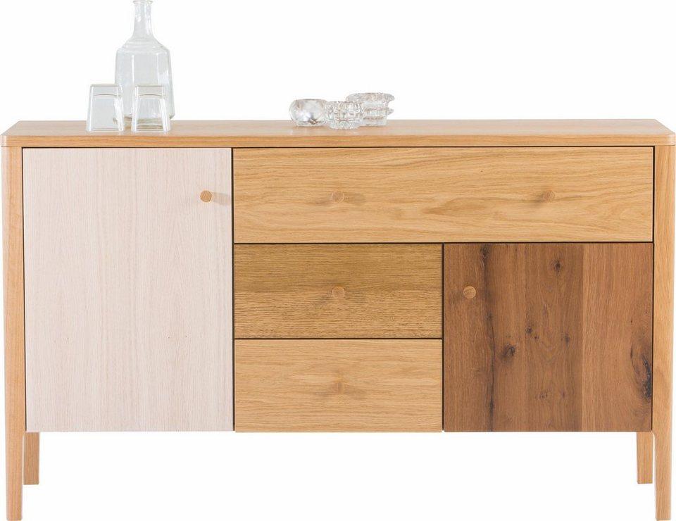 andas Sideboard »Villa«, Breite 135 cm in natur/weiss