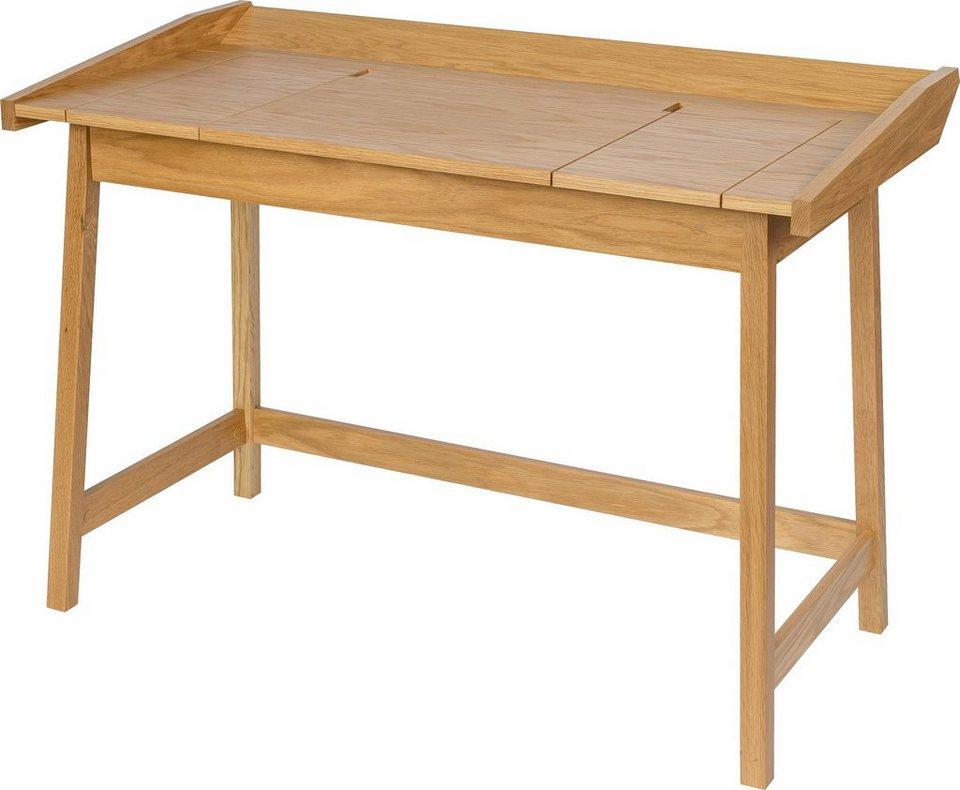 andas Schreibtisch »Aksel«, Eiche im nordischen Design in natur