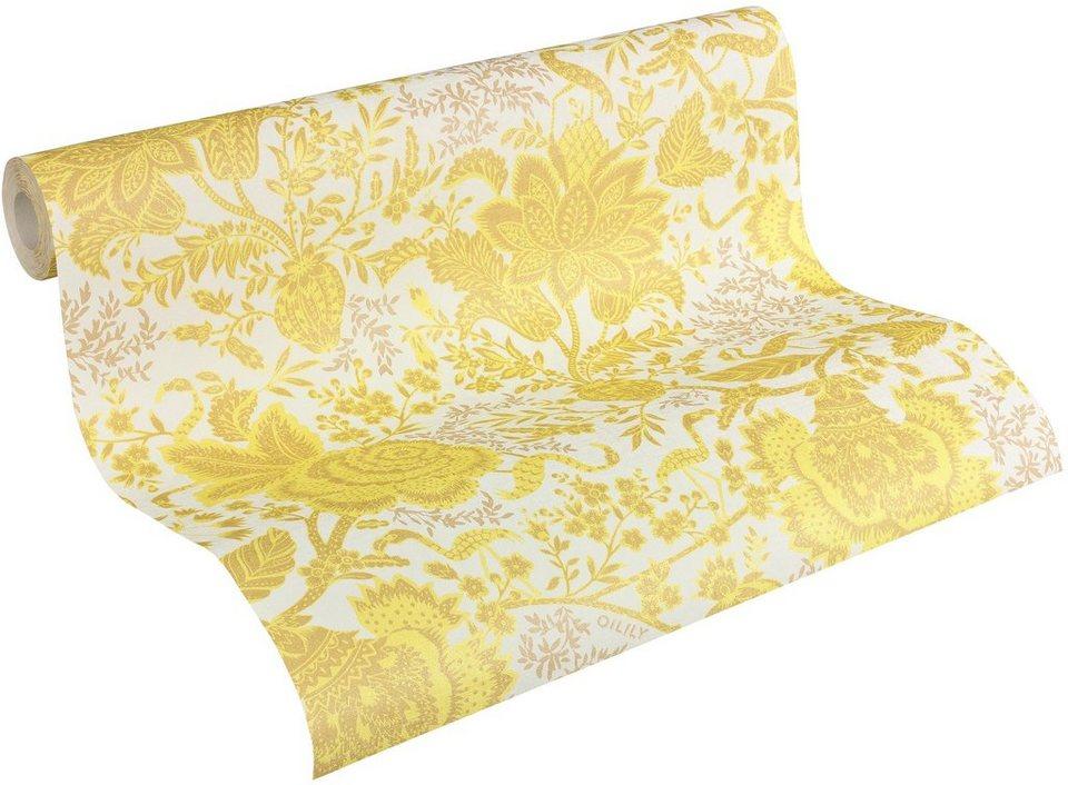 Vliestapete, Oilily, »Oilily Atelier« in beige gelb weiß