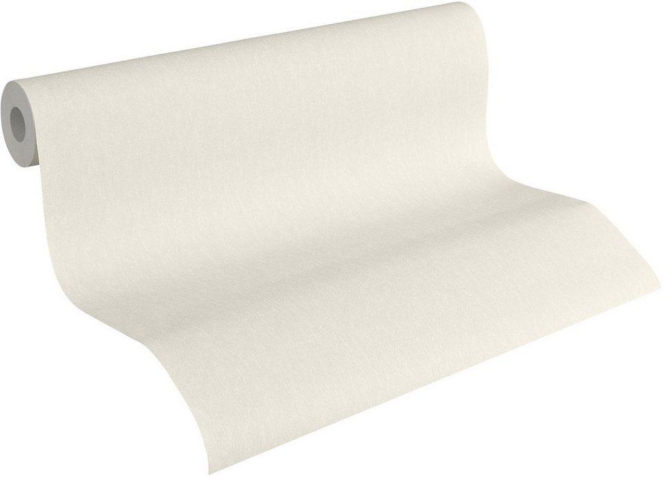 Vliestapete, Livingwalls, »Fleece Royal« in weiß