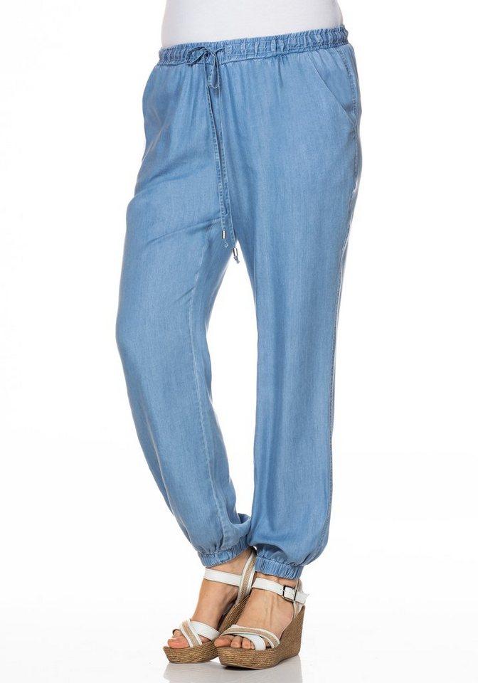 sheego Casual Pumphose in blue Denim