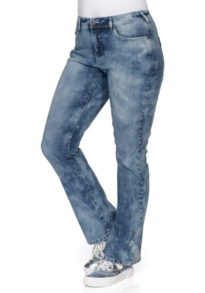 sheego Denim Bootcut Stretch-Jeans in blue stone Denim