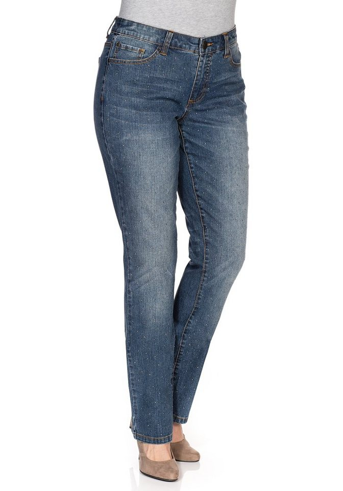 sheego Denim Gerade Stretch-Jeans in blue Denim